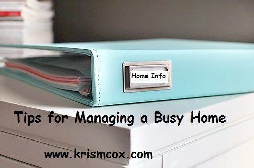 Tips for Managing a Busy Home